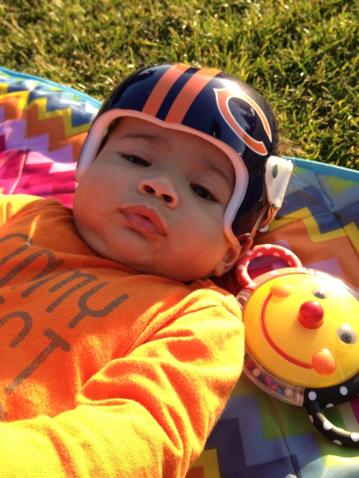 Doc band swag 53 weeks for Baby cranial helmet decoration