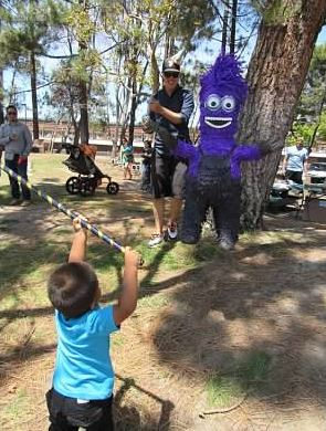 purple pinata